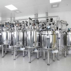 photo pharma tanks in clean room