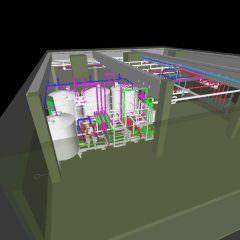 3D-Konstruktion der Produktionsanlage