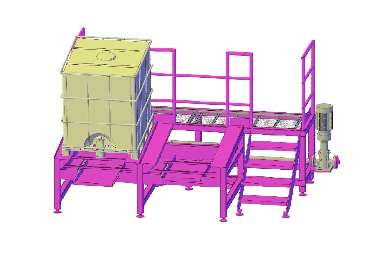 3D-чертеж очистной станции