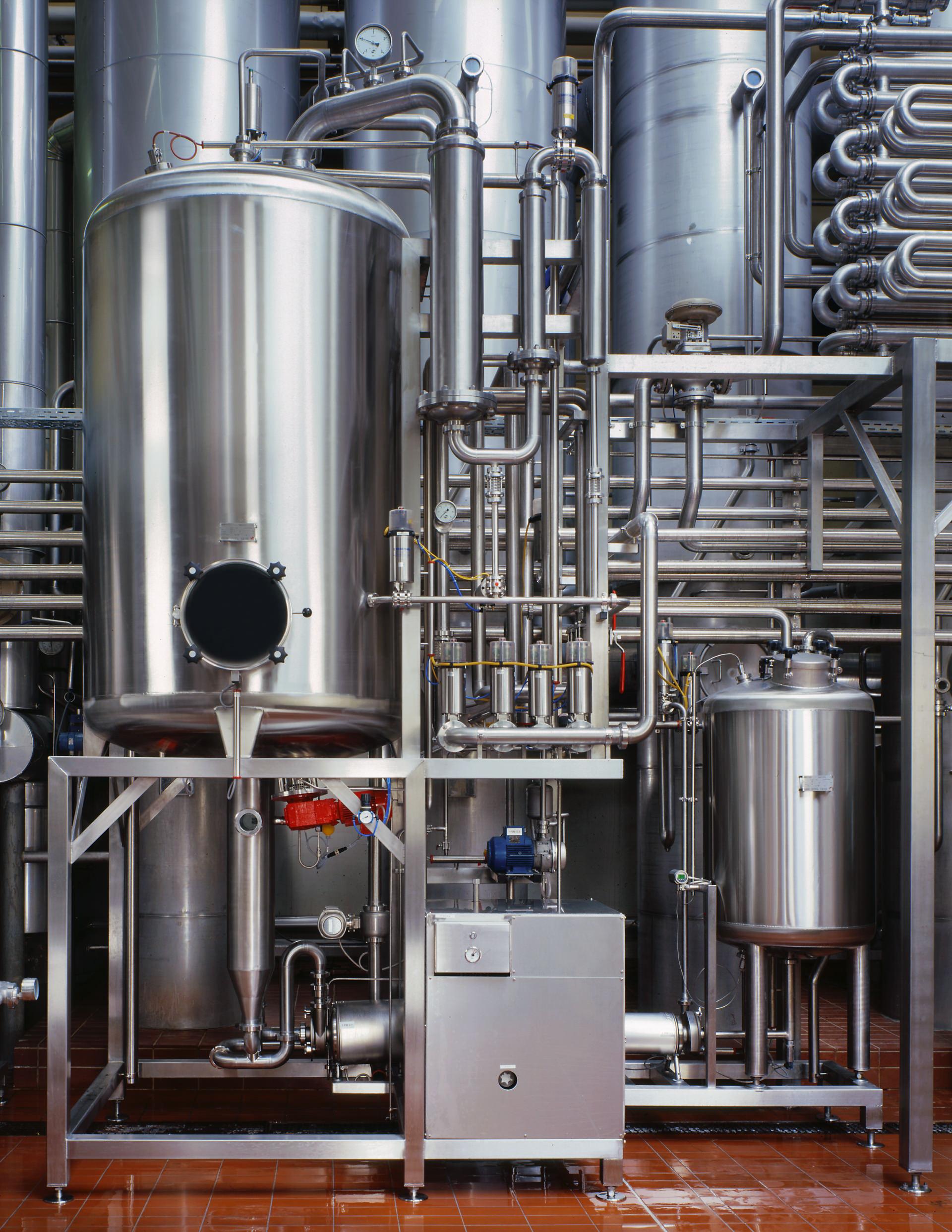 Foto Entgasungsanlage Fruchtsaftproduktion