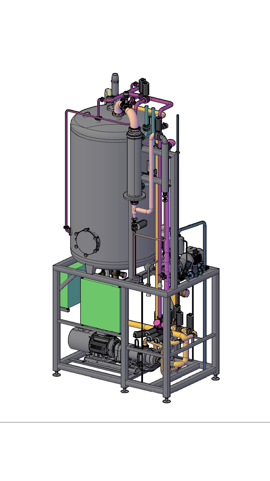 3D drawing deaeration system
