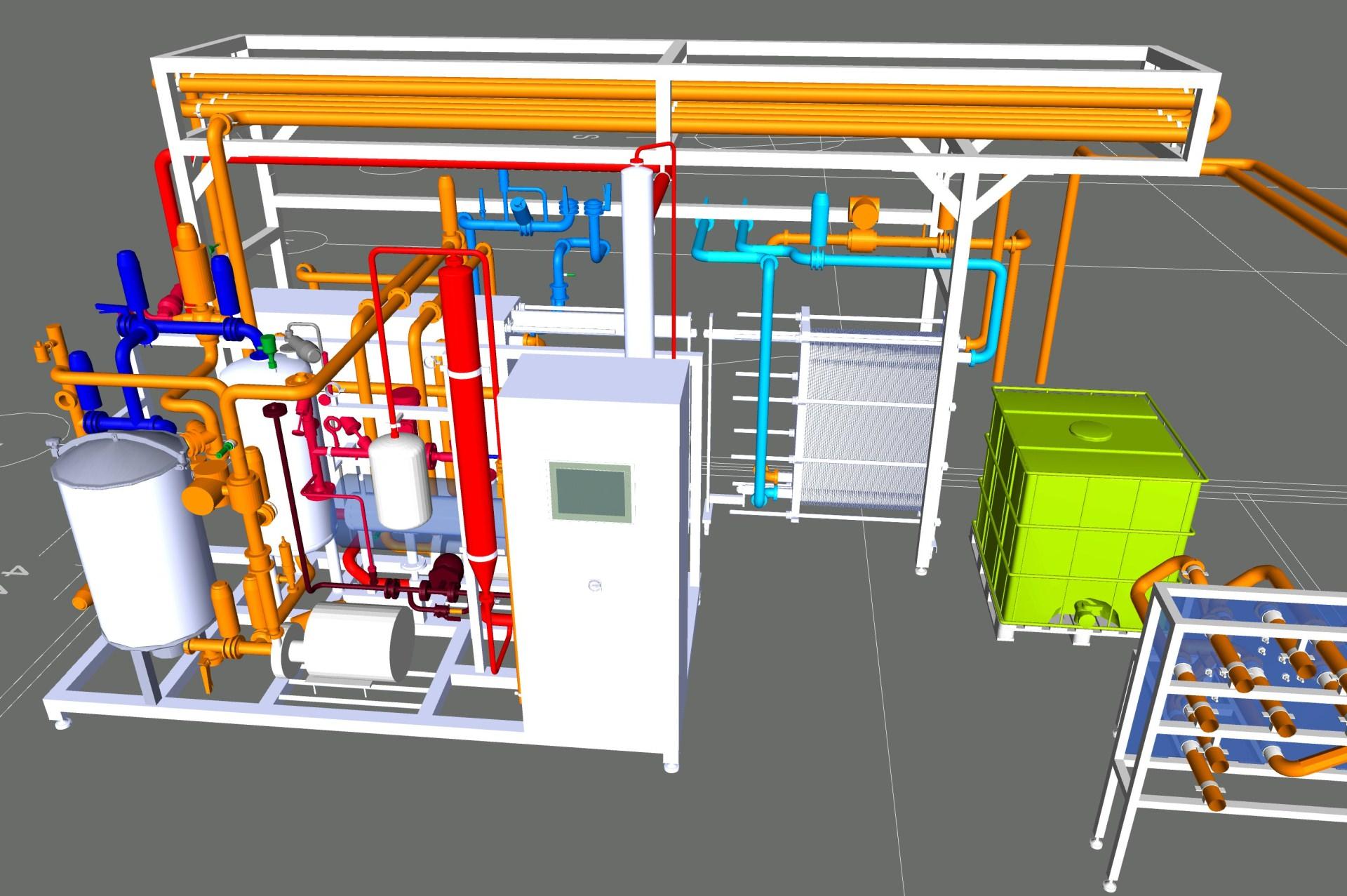 3D Model KZE Anlage