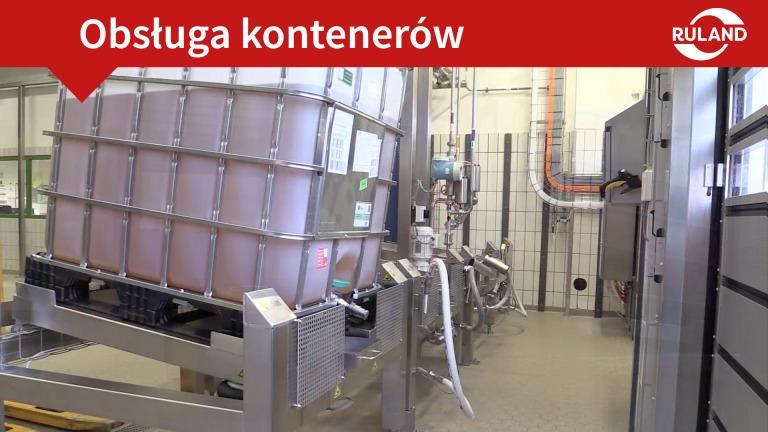 Zdjęcie obsługi kontenerów ze stacją rozładunku w języku polskim