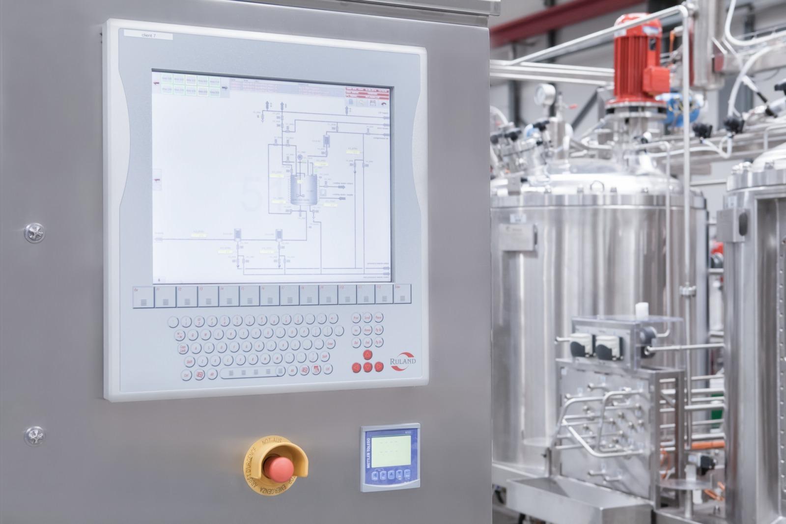 Zdjęcie panela dotykowego układu procesowego