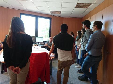 Foto Besuchergruppe bei CAD
