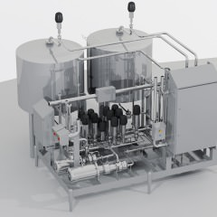 3D-Grafik Modul zur Herstellung, Lagerung und Dosierung von Flüssigkeiten