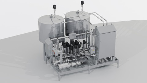 graphic of module for production, storage and dosing of liquids