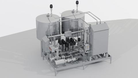 Grafika modułu do przechowywania i dozowania płynów