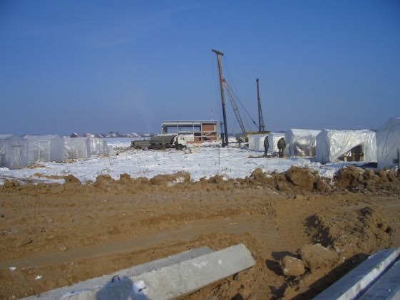 Photo of a construction site of a project