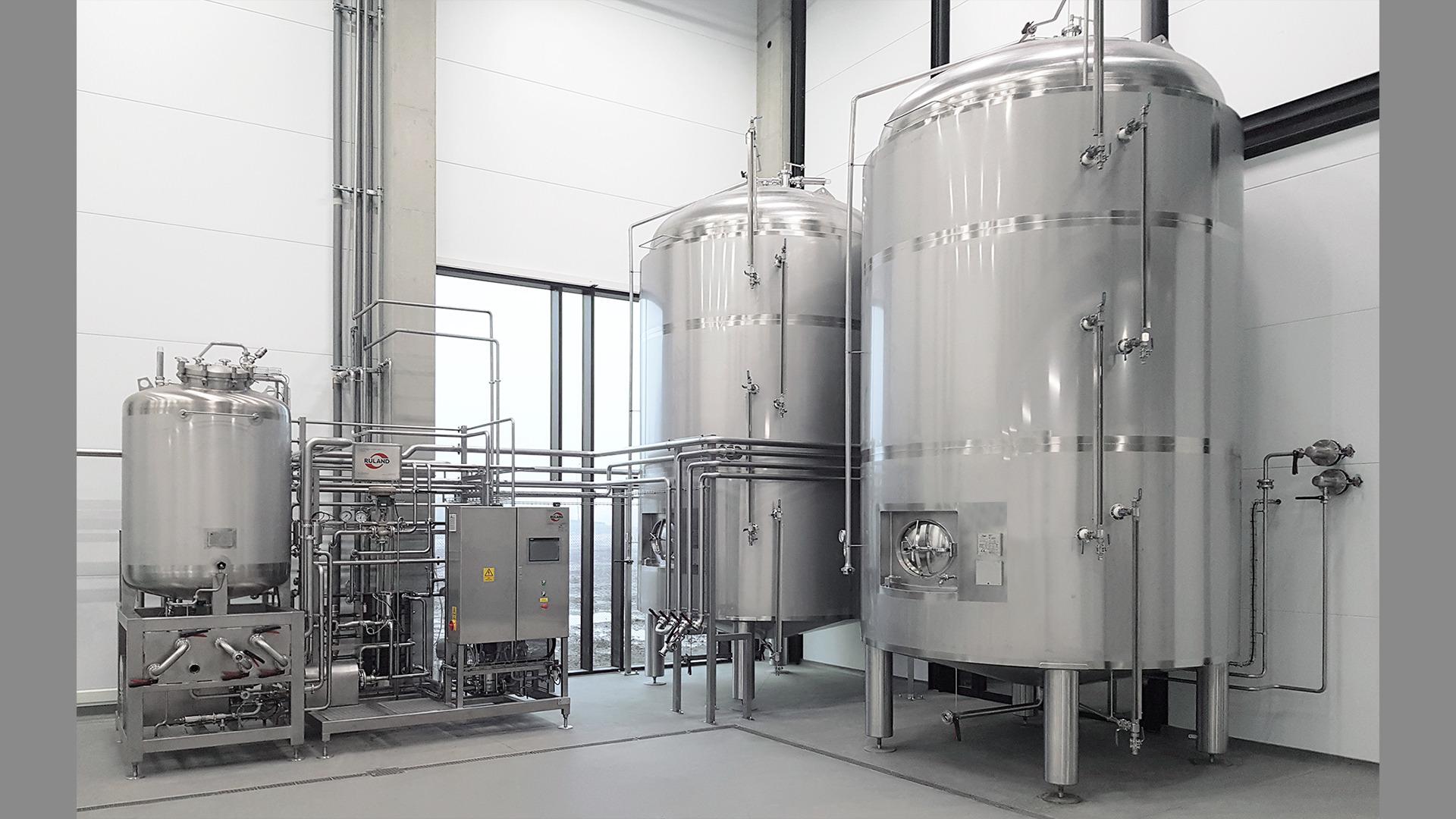 Foto Pasteuranlage für Brauerei